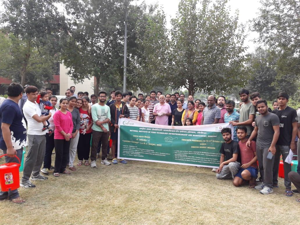 NIFTEM Swachhta Pakhwada 21st Oct., 2018