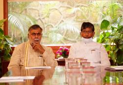 Union Minister Shri Pashupati kumar Paras in the presence of MoS Shri Prahlad Singh Patel chaired a review meeting on the Mega Food Park Scheme & Agro Processing Cluster Scheme of the MoFPI under the Pradhan Mantri Kisan Sampada Yojana.