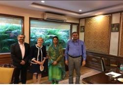 Hon'ble Union Minister FPI Smt. Harsimrat Kaur Badal held a meeting